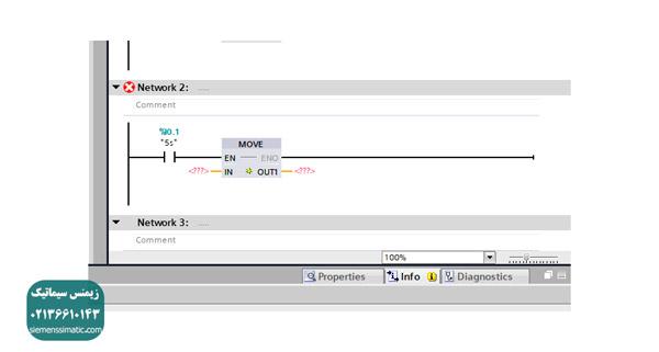 آموزش دستور move و کاربرد آن در برنامه نویسی پی ال سی S7-1200 زیمنس