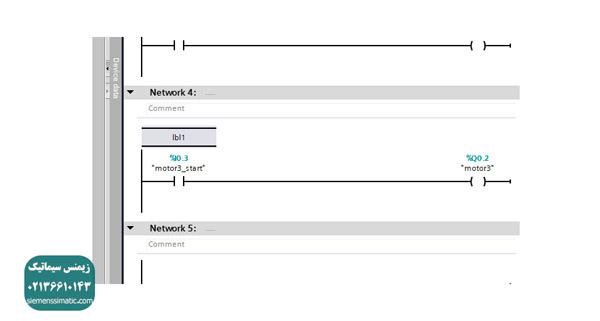 نمایندگی زیمنس، آموزش دستور jump و کاربرد آن در برنامه نویسی S7-1200 - 03