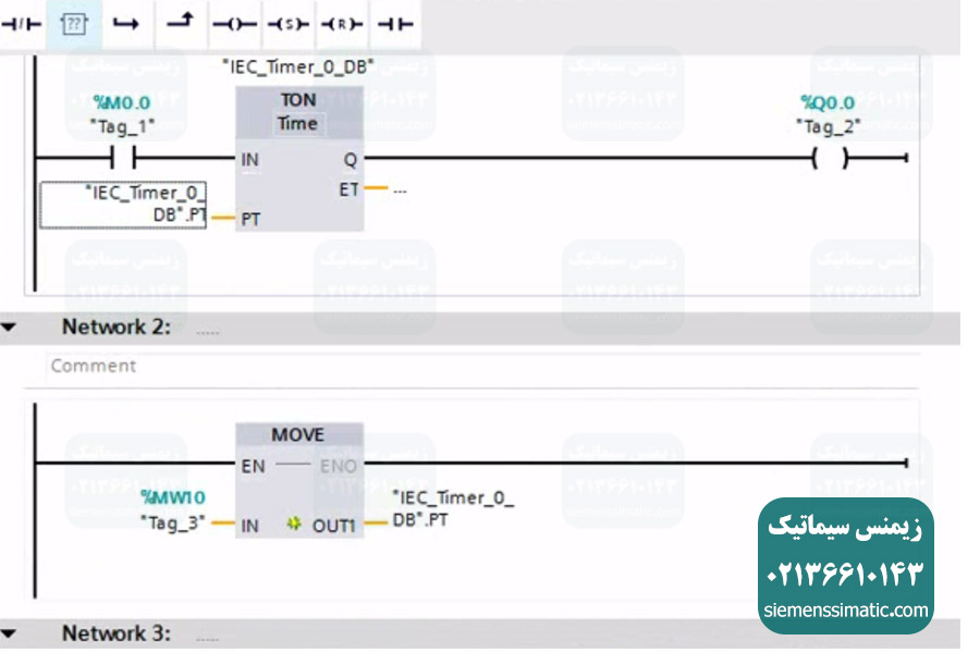 تنظیمات و برنامه نویسی PLC S7-1200 نمایندگی زیمنس در TIA Portal