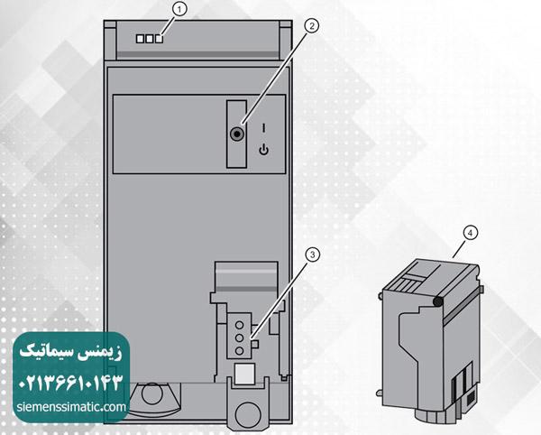 اجزای اتصالی و اپراتوری ماژول PS 60W 120/230V AC/DC نمایندگی زیمنس