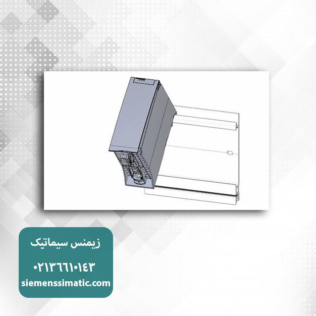 نصب ماژول PM بر روی ریل PLC S7-1500 زیمنس