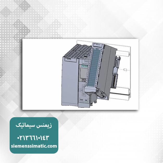 نصب ماژول ورودی بر روی ریل PLC S7-1500 زیمنس