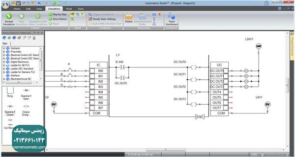 آموزش پی ال سی S7-1200 زیمنس قسمت 8: ورودی و خروجی های پی ال سی و طراحی مدار کنتاکتوری با آن ها (مدار فرمان)